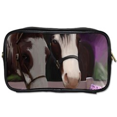 Two Horses Travel Toiletry Bag (two Sides)