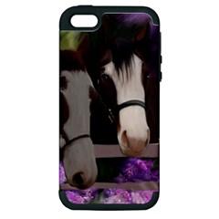 Two Horses Apple iPhone 5 Hardshell Case (PC+Silicone)