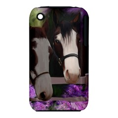 Two Horses Apple Iphone 3g/3gs Hardshell Case (pc+silicone)