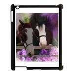 Two Horses Apple iPad 3/4 Case (Black) Front
