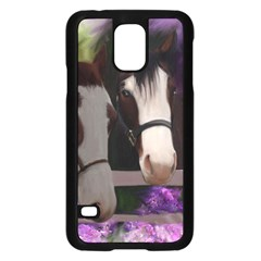 Two Horses Samsung Galaxy S5 Case (Black)