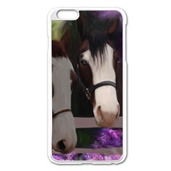 Two Horses Apple iPhone 6 Plus Enamel White Case