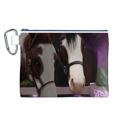 Two Horses Canvas Cosmetic Bag (Large)