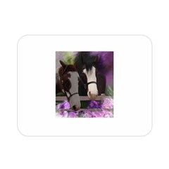 Two Horses Double Sided Flano Blanket (mini)