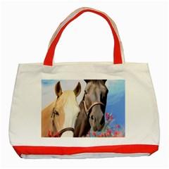 Miwok Horses Classic Tote Bag (red)
