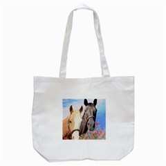 Miwok Horses Tote Bag (white)