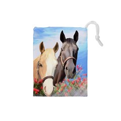 Miwok Horses Drawstring Pouch (Small)