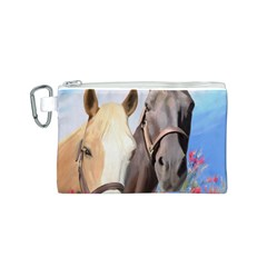 Miwok Horses Canvas Cosmetic Bag (Small)