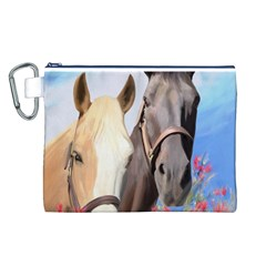 Miwok Horses Canvas Cosmetic Bag (Large)