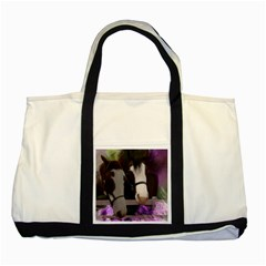 Two Horses Two Toned Tote Bag