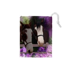 Two Horses Drawstring Pouch (Small)