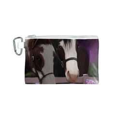 Two Horses Canvas Cosmetic Bag (Small)