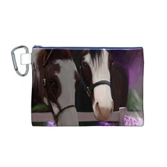 Two Horses Canvas Cosmetic Bag (Medium)
