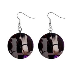 Two Horses Mini Button Earrings