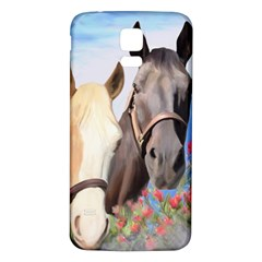 Miwok Horses Samsung Galaxy S5 Back Case (White)