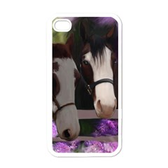 Two Horses Apple iPhone 4 Case (White)