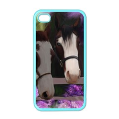 Two Horses Apple iPhone 4 Case (Color)