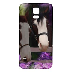 Two Horses Samsung Galaxy S5 Back Case (white)