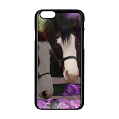 Two Horses Apple iPhone 6 Black Enamel Case