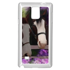 Two Horses Samsung Galaxy Note 4 Case (White)
