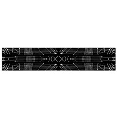 Black and White Tribal Print Flano Scarf (Small)