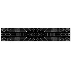 Black And White Tribal Print Flano Scarf (large)
