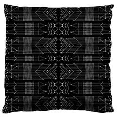 Black And White Tribal  Large Cushion Case (single Sided)