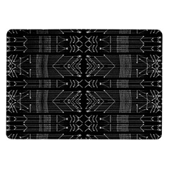 Black And White Tribal  Samsung Galaxy Tab 10 1  P7500 Flip Case