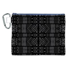Black and White Tribal  Canvas Cosmetic Bag (XXL)