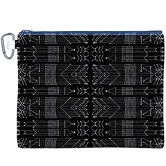 Black and White Tribal  Canvas Cosmetic Bag (XXXL)
