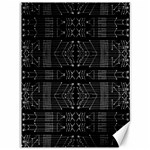 Black and White Tribal  Canvas 36  x 48  (Unframed) 48 x36 Canvas - 1