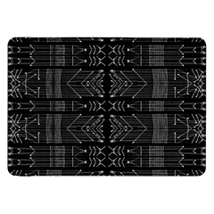 Black And White Tribal  Samsung Galaxy Tab 8 9  P7300 Flip Case
