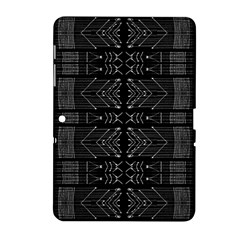 Black And White Tribal  Samsung Galaxy Tab 2 (10 1 ) P5100 Hardshell Case