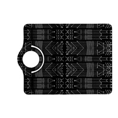 Black And White Tribal  Kindle Fire Hd (2013) Flip 360 Case