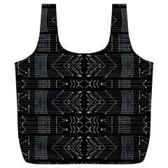 Black and White Tribal  Reusable Bag (XL)