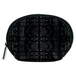Black and White Tribal  Accessory Pouch (Medium) Front