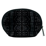 Black and White Tribal  Accessory Pouch (Medium) Back