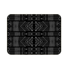 Black and White Tribal  Double Sided Flano Blanket (Mini)