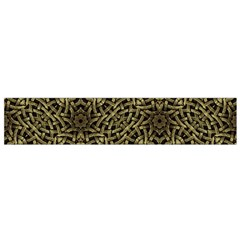Celtic Golden Arabesque Print Flano Scarf (Small)