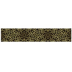 Celtic Golden Arabesque Print Flano Scarf (Large)