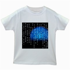 Binary Rain Kids T-shirt (White)
