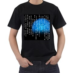 Binary Rain Men s Two Sided T-shirt (Black)