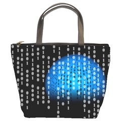 Binary Rain Bucket Handbag