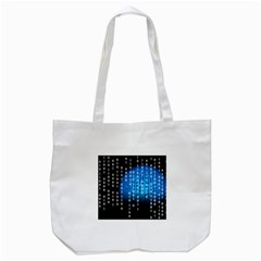 Binary Rain Tote Bag (White)