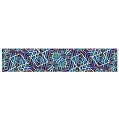 Colorful Geometric Print Flano Scarf (Small)