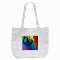 Rainbowpeace Tote Bag (White)