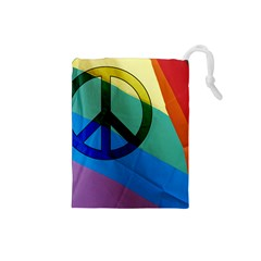 Rainbowpeace Drawstring Pouch (Small)