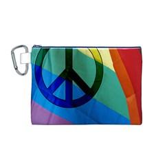 Rainbowpeace Canvas Cosmetic Bag (Medium)