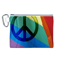 Rainbowpeace Canvas Cosmetic Bag (large)