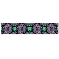 Floral Arabesque Print Flano Scarf (large)